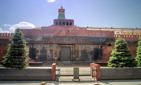 Mausoléu de Lenin na Praça Vermelha