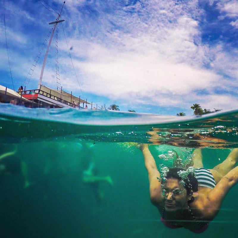Travel Vlogger Renata Pereira in Paraty, Brazil