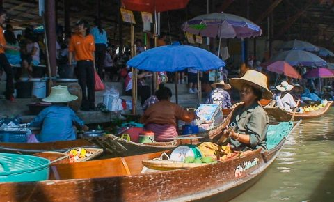 Experiencing a Floating Market in Thailand