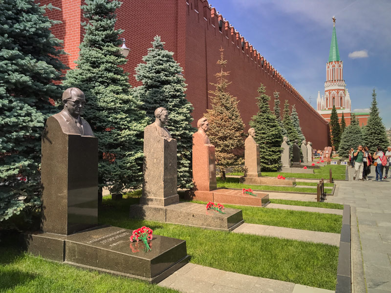 Cemetery of Russia personalities outside Lenin Mausoleum