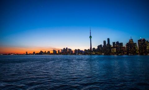 Toronto skyline, in Canada