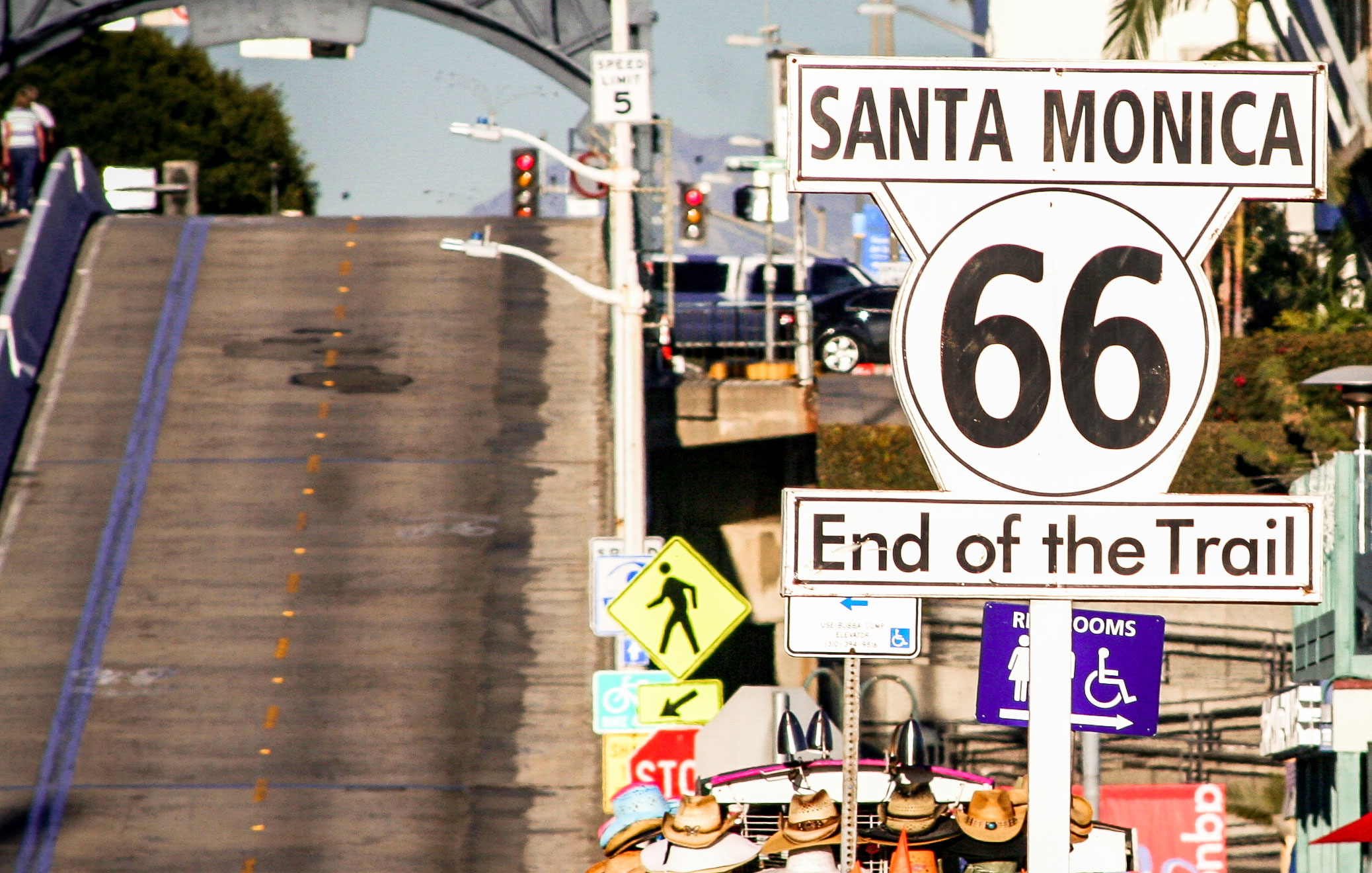End of the Route 66 in Santa Monica, California