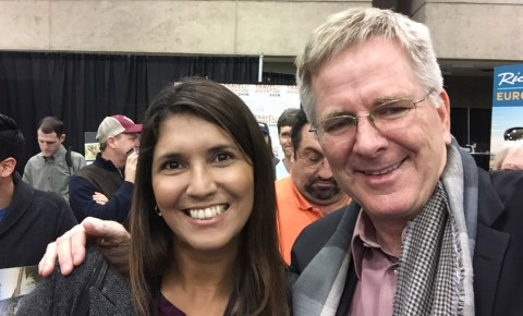 Renata and Rick Steves at the Dallas Travel Show