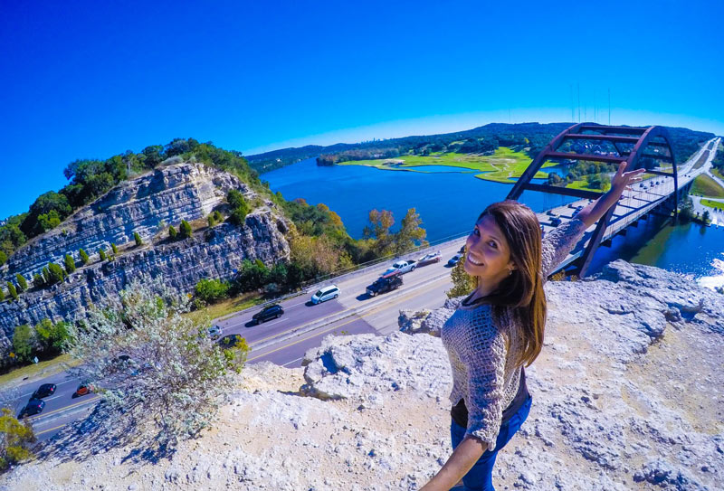 Travel vlogger Renata Pereira in Austin, Texas (USA)