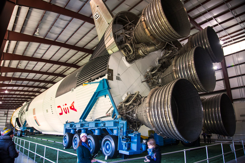 Johnson Space Center da NASA - Foguete Saturn V