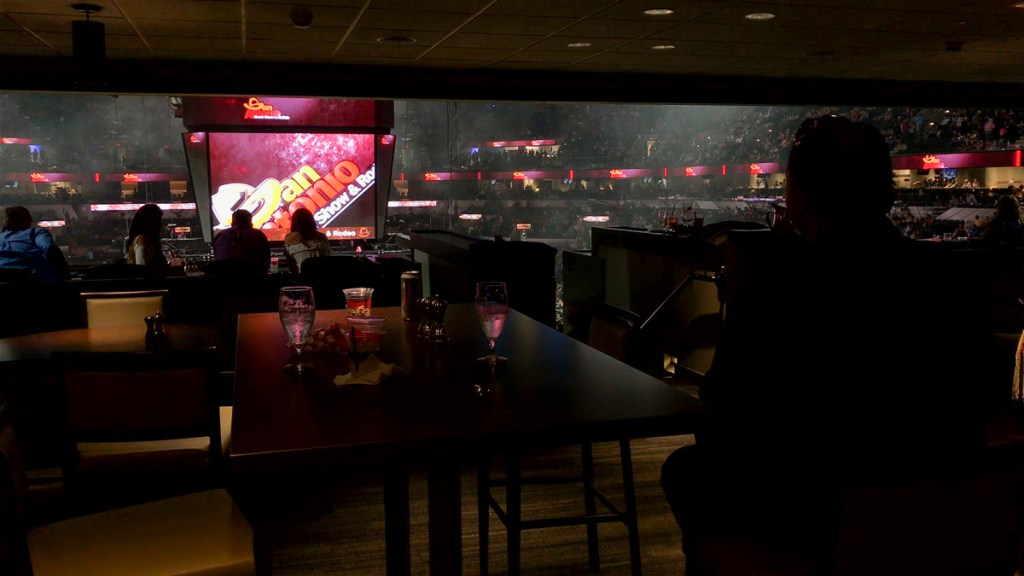 Terrace Restaurant at the AT&T Center during the San Antonio Rodeo in San Antonio, Texas