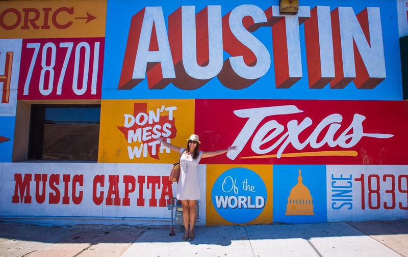 Austin, Texas mural off of 6th Street