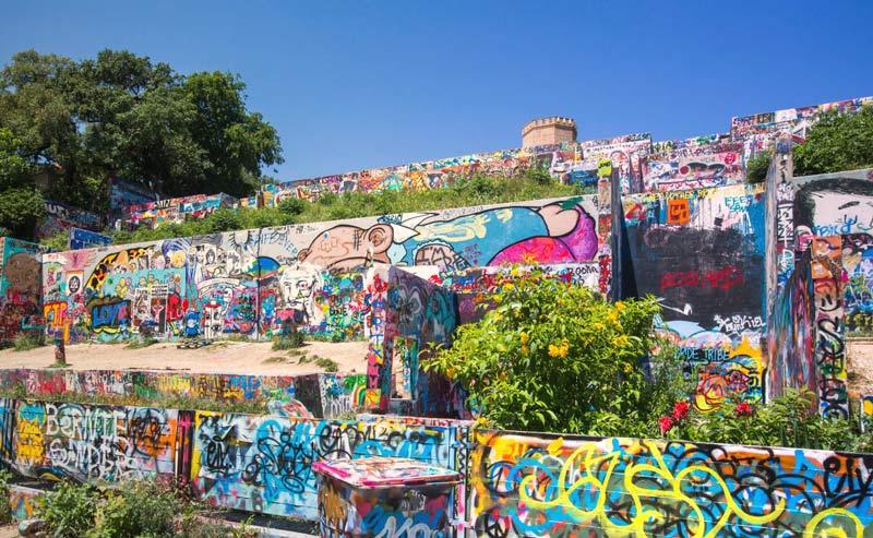 Hope Graffiti Park in Austin, Texas