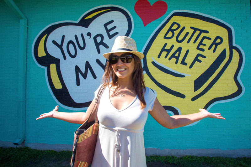 """You're my butter half"" mural in Austin, Texas"