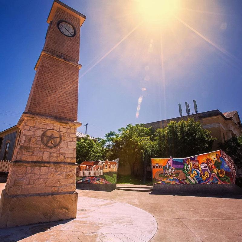 Rhapsody tile mural on 11th Street in Austin, Texas