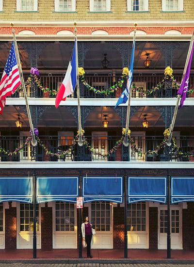 Bourbon Street in New Orleans' French Quarter