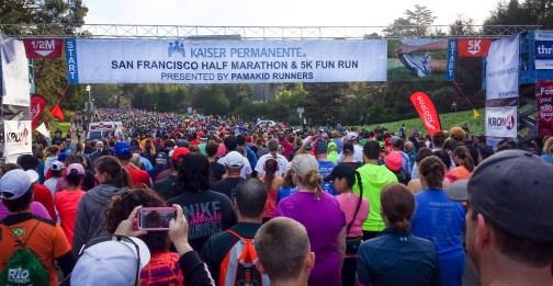 KP SF Half Marathon 2016 start