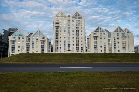 Apartment buildings on the see shore drive. Nikon D810, 24.0mm (24.0mm ƒ/1.4) 1/40sec ƒ/6.3 ISO 64