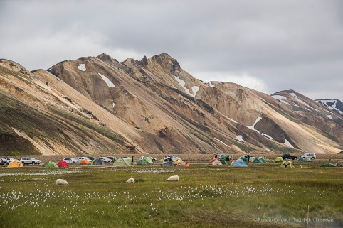 The camp site in Landmannalaugar. Nikon D810, 85 mm (24-120.0 mm ƒ/4) 1/200 sec ƒ/8 ISO 250