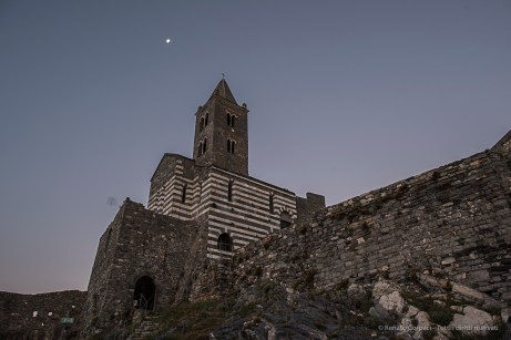 The Church of Saint Peter in Portovenere was established in 1198. Nikon D810, 24mm (24 mm ƒ/1.4) 1/8 sec ƒ/5.6 ISO 64
