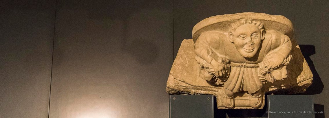 "Brixia sculptor, grotesque mail figure, end XIII - beginning XIV century. Nikon D810, 40 mm (24-120.0 mm ƒ/4) 1/125"" ƒ/4.5 ISO 6400"