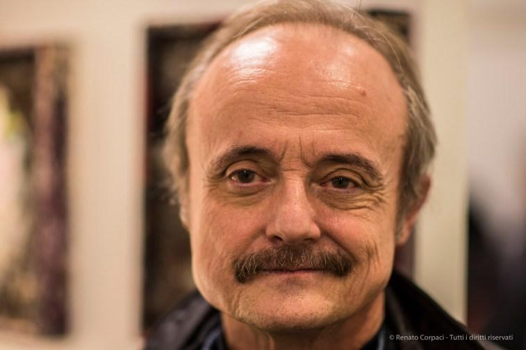 "Ruggero Maggi, art critic, artist, curator. December 2016. Nikon D750 85 mm (85.0 mm ƒ/1.4) 1/100"" ƒ/1.4 ISO 200"