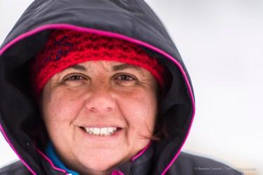 "Alessandra, instructor. Avouil, Centro Sleddog Cervinia. Nikon D810 85 mm (85.0 mm ƒ/1.4) 1/3200"" ƒ/1.4 ISO 64"