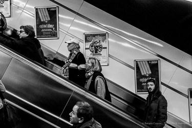 The escalator out of Line A. Nikon D810, 35 mm (35.0 mm ƒ/2) 1/200 ƒ/8 ISO 10000
