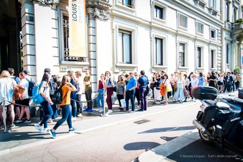 Louis Vuitton exhibit in Palazzo Bocconi. Milano Design Week, April 2018.
