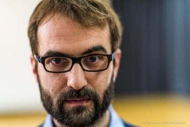 Marco Luini, risercher, computer music designer. Torino, April 2018. Nikon D810, 85 mm (24-120 mm ƒ/4) 1/160 ƒ/1.4 ISO 1100