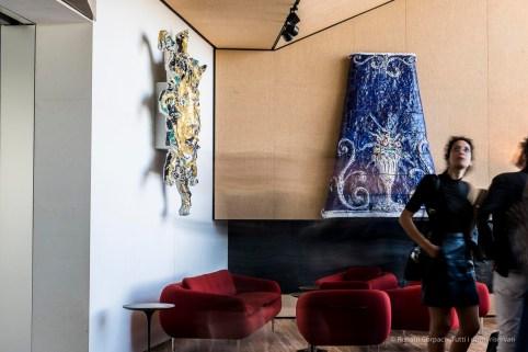 "Two ceramic sculptures by Lucio Fontana. Torre Restaurant. Fondazione Prada, Milano Design Week 2018. Nikon D810, 65 mm (24-120 mm ƒ/4) 1"" ƒ/16 ISO 64"