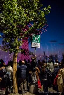 """Light & Sound exibition in front of the """"Albero della Vita"""" at EXPO Milano 2015. Nikon D810, 24 mm (24-120.0 ƒ/4) 1/200″ ƒ/4 ISO 12800"""