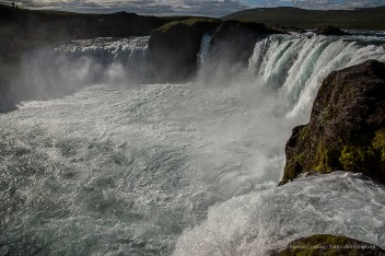 """The Waterfall of The Gods"", Goðafoss is located in river Skjálfandafljót near fosshöll. Nikon D810, 24 mm (24-120.0 mm ƒ/4) 1/640 sec ƒ/8 ISO 64"