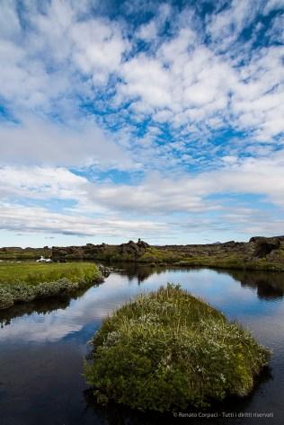 "In Icelandic, ""Lake Mývatn"" means ""lake mosquito"". Nikon D810, 24 mm (24-120.0 mm ƒ/4) 1/60 sec ƒ/11 ISO 64"