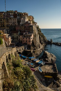 Manarola is the oldest village of the Cinque Terre. Nikon D810, 24mm (24 mm ƒ/1.4) 1/400 sec ƒ/8 ISO 64