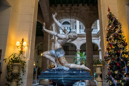 """A fine ceramic odalisque greets the guests at the Hotel Florida. Nikon D810, 31 mm (24-120.0 ƒ/4) 1/100"""" ƒ/4.5 ISO 3200."""