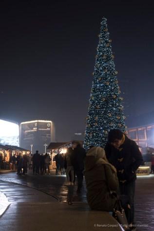 "Chrismas market, Piazza Gae Aulenti in Milan, December 2016. Nikon D750, 24 mm (24-120.0 mm ƒ/4) 1/4"" ƒ/6.3 ISO 400"