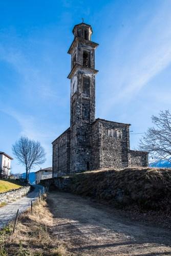 """Somasassa, Valtellina, church of San Gottardo, XVIII Century. Northwestern view. Nikon D810, 24 mm (24 mm ƒ/1.4) 1/100"""" ƒ/8 ISO 64"""
