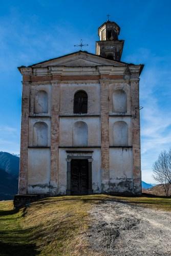 "Somasassa, Valtellina, church of San Gottardo, XVIII Century. Facade. Nikon D810, 24 mm (24 mm ƒ/1.4) 1/100"" ƒ/8 ISO 64"