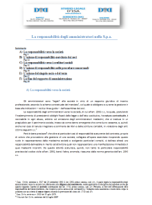 La responsabilità degli amministratori nella S.p.a.