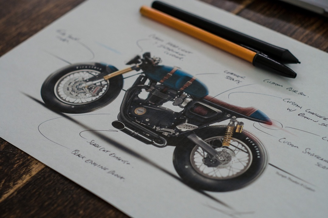 Triumph Thruxton 1200R Concept Sketch