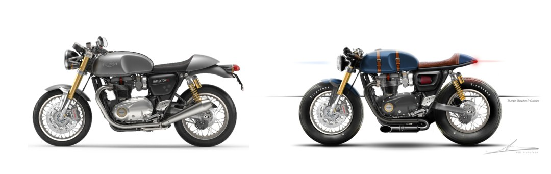Triumph Thruxton R Stock vs Custom | CustomBIKE.cc