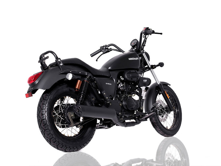 Retro 125cc - Sinnis Hoodlum Black Rear