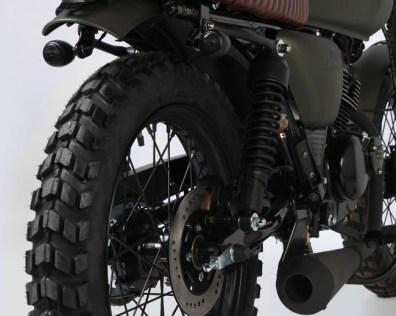 Mutt Motorcycles Hilts Green 125 Rear Shocks