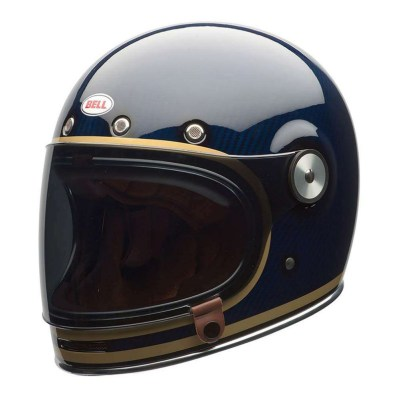 BELL BULLITT CARBON CANDY BLUE HELMET FRONT LEFT