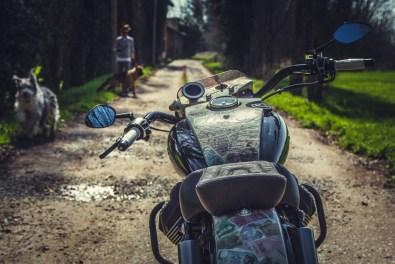 Moto Guzzi V9 Bobber Custom, 'Vecchio Conio' by Rustom [tank and instruments distant]