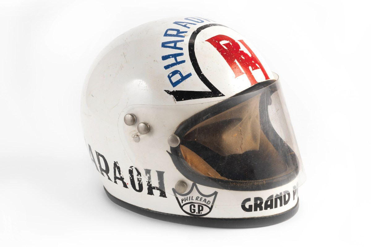 RON HASLAM RACE HELMET BY KANGOL HELMETS LTD SCOTLAND