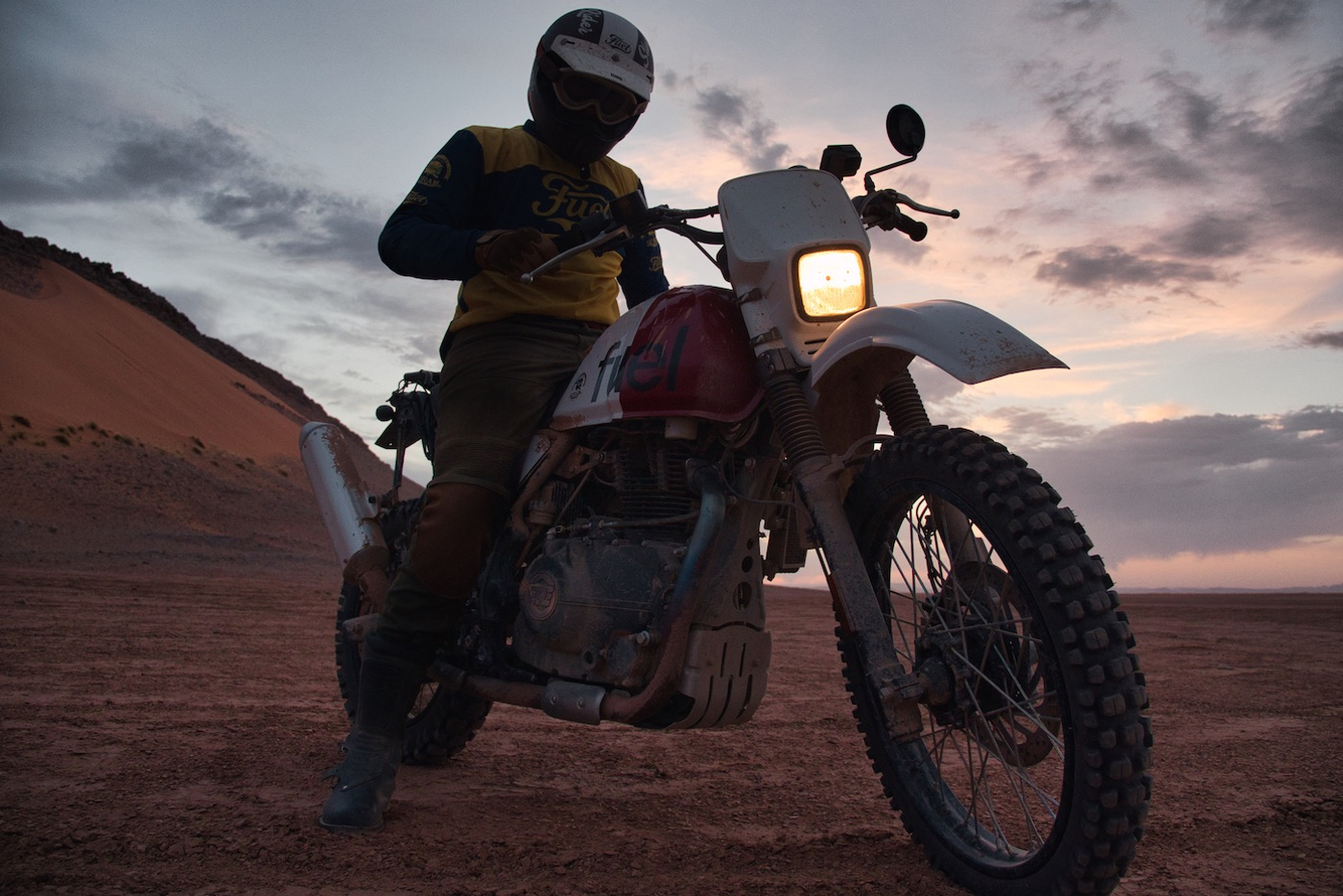 ROYAL ENFIELD HIMALAYAN 'RALLY 400' SCRAM AFRICA - Sunset