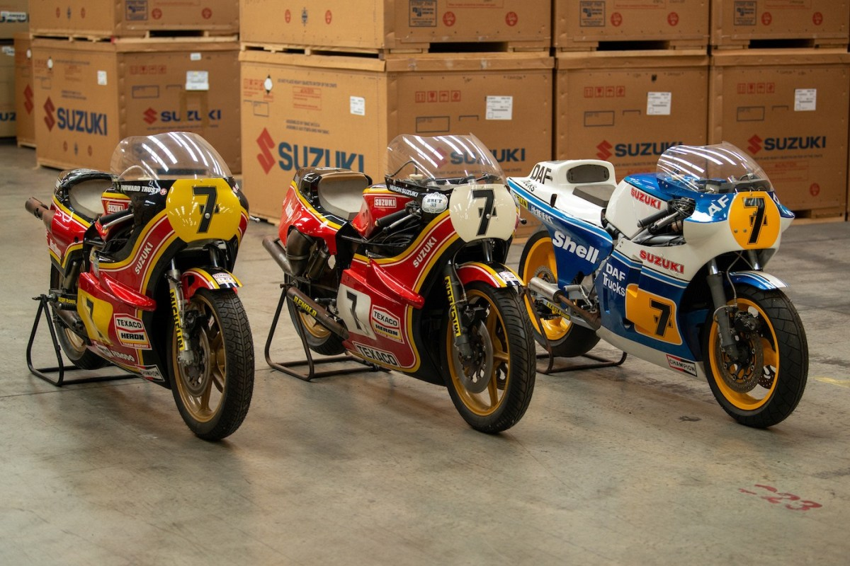 Barry Sheene Suzuki RG500 Race Bikes