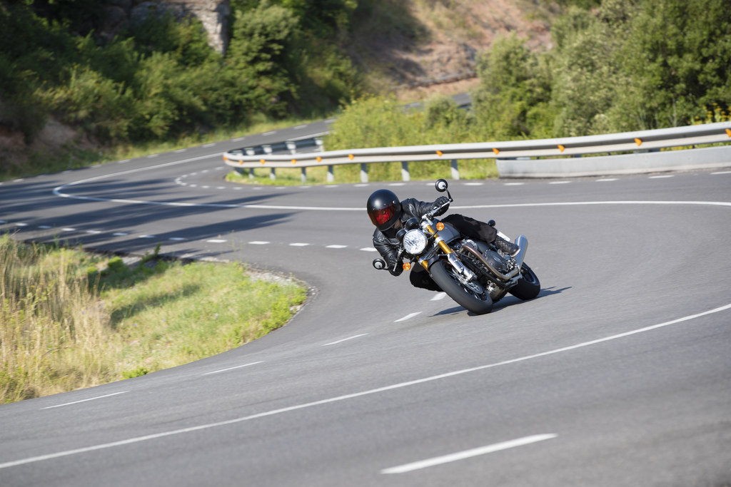 Triumph Thruxton RS Taking A Corner 2