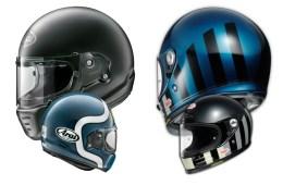 Arai Concept X & Shoei Glamster Retro Helmets