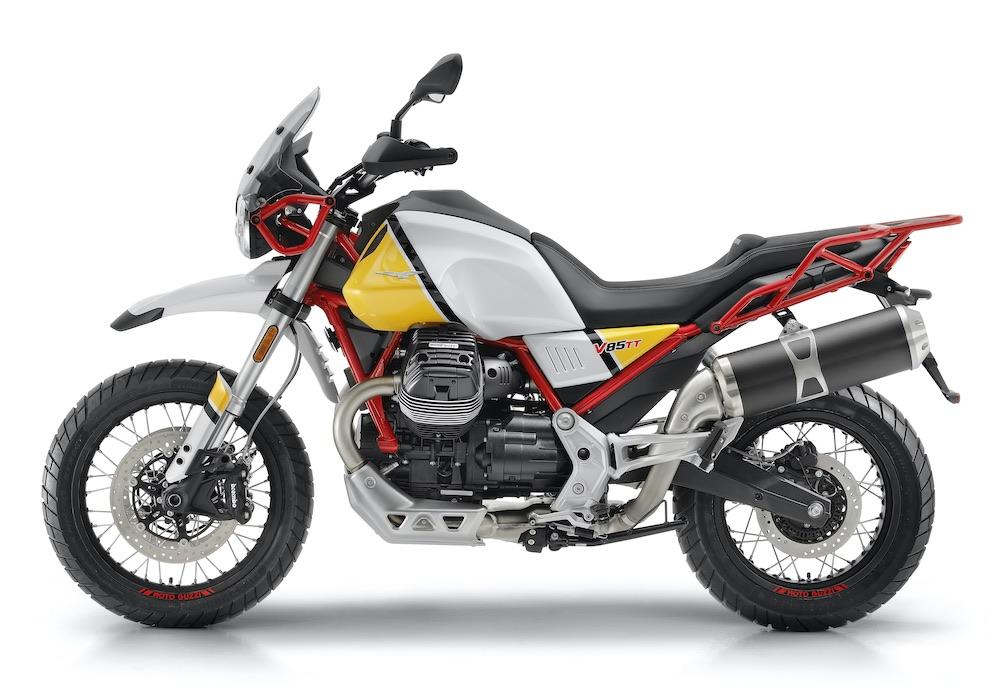 Moto Guzzi V85 TT left side view