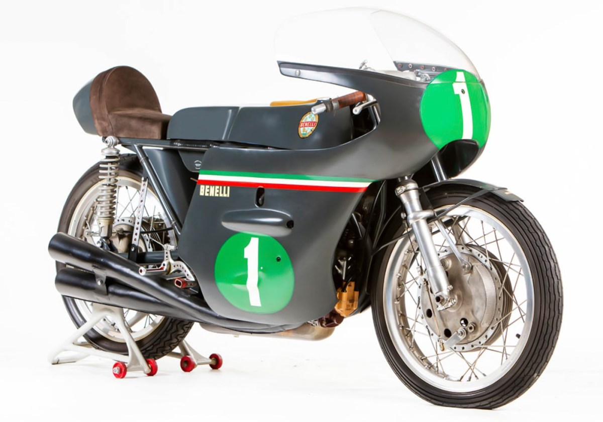 MCN London Motorcycle Show - 1950 Benelli 250cc GP on display