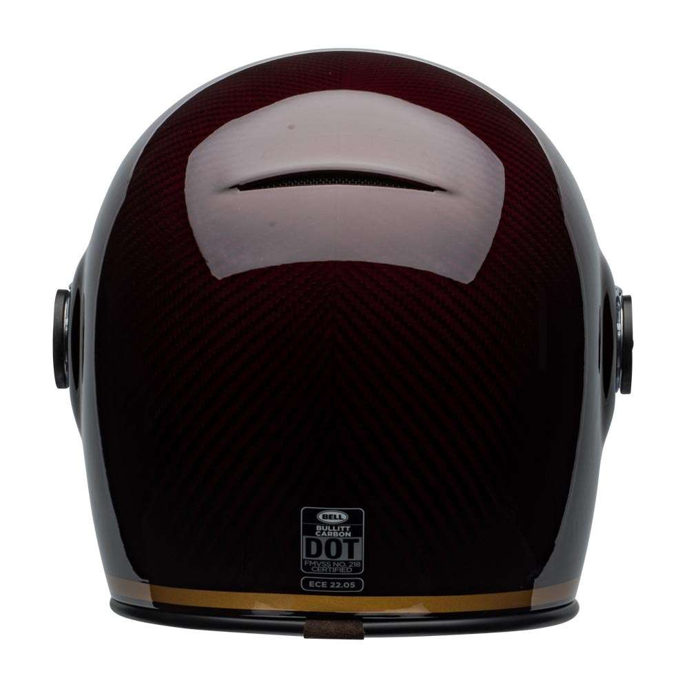 Bullitt Carbon Culture Helmet Transcend Gloss Candy Red Gold [clear-shield-back]