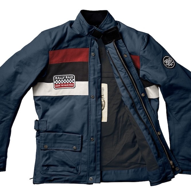 FUEL RALLY RAID JACKET Petrol [Blue] front open